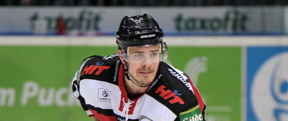 Moritz Müller im Spiel gegen die Thomas Sabo Ice Tigers. Foto: Jürgen Peters.