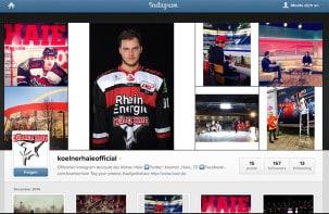 Kölner Haie mit Instagram-Account