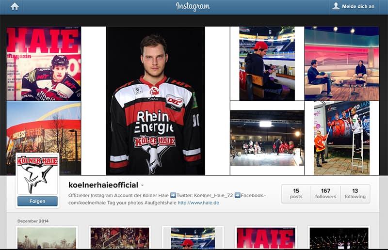 Kölner Haie auf Instagram