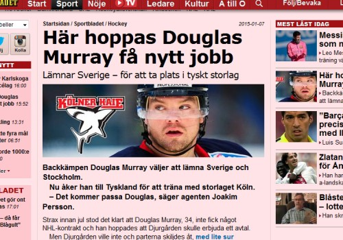 Douglas Murray im Artikel des Aftonbladet (Screenshot).