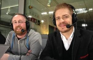 Moritz Müller als Gastkommentator beim LiveRadio