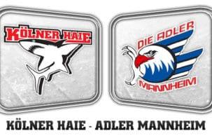 Liveticker: Haie - Adler; der Meister kommt zum Jahresausklang