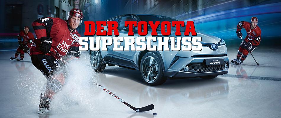 Der Toyota Superschuss bei den Kölner Haien.