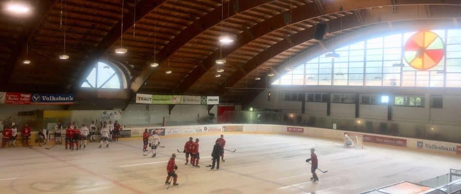 Die Kölner Haie beim Training im Ice:Forum Latsch. Foto: Kölner Haie