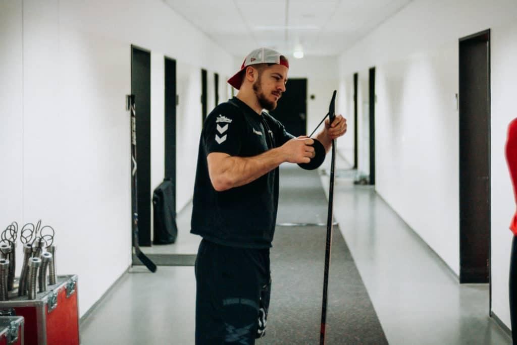 Moritz Müller bereitet sich auf das DEL WINTERGAME 2019 vor. Foto: Basti Sevastos.