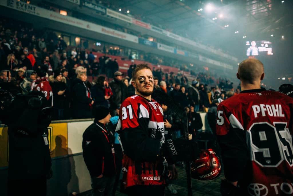 Moritz Müller vor dem Spiel des DEL WINTERGAME 2019. Foto: Basti Sevastos.